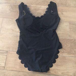 the stockplace Swim - The stockplace Black scalloped swimsuit sz large